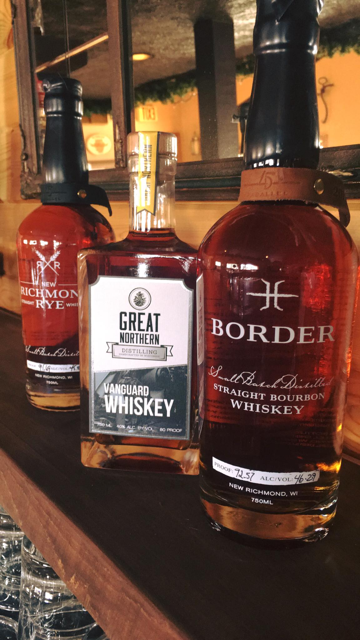 Proudly serving Wisconsin made whiskeys!